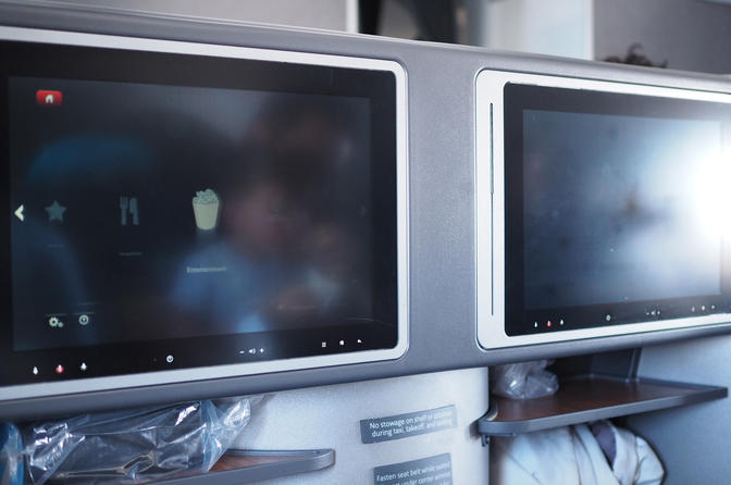 AA A321 IFE TV Business Class