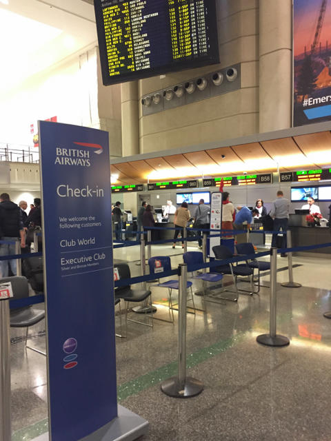 LAX British Airways Check-In