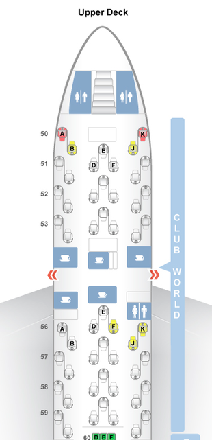 Club World Seat Map Upper Deck (SeatGuru)
