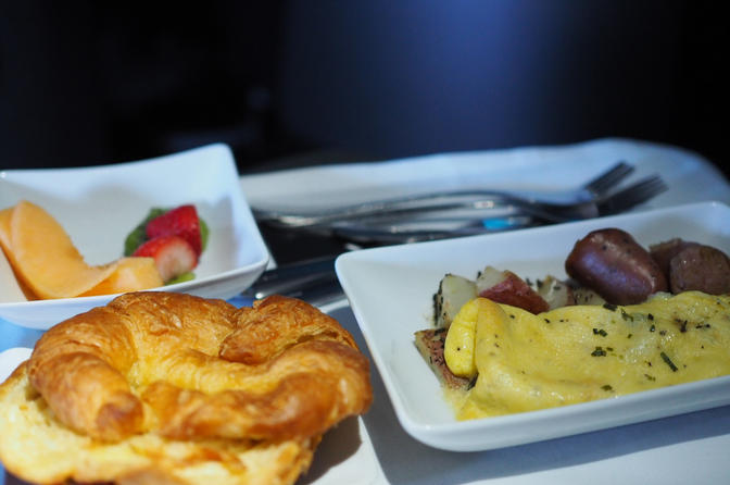 AA Business Class Food