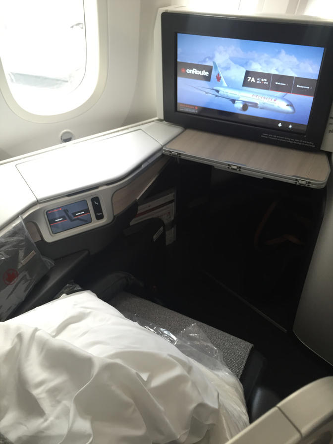 Air Canada Business Class Window Seat