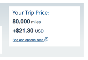AA Award Booking Cost - LAX to MEL on Business Class
