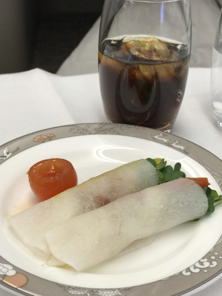 Asiana Business Class Appetizer