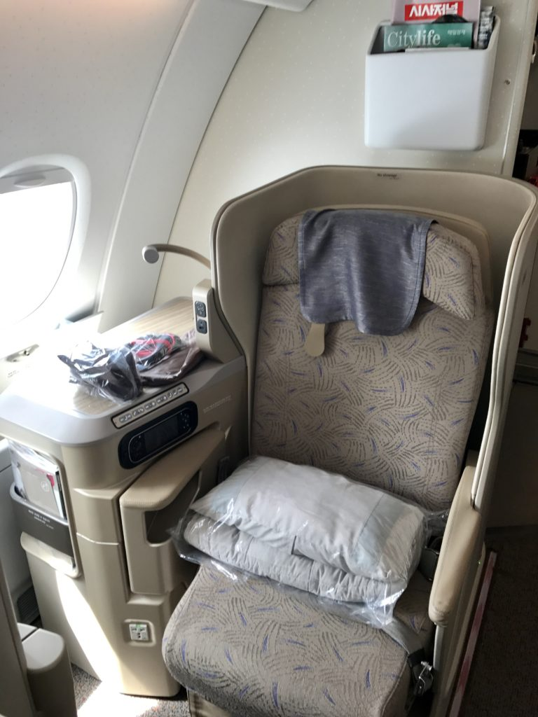 Asiana Business Class Window Seat 11K