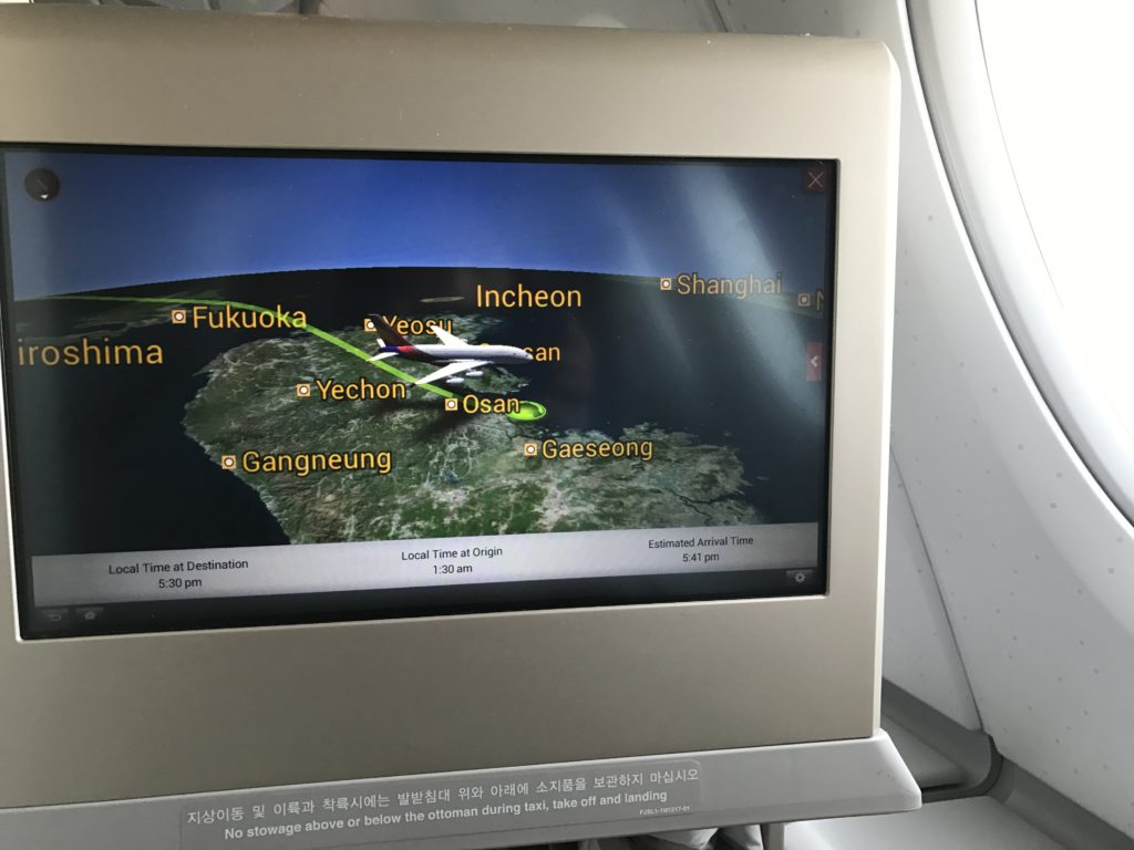Asiana Flight Map 2