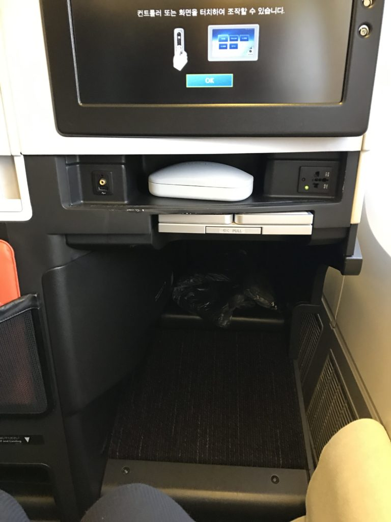 JAL BC Seat Cubby 767