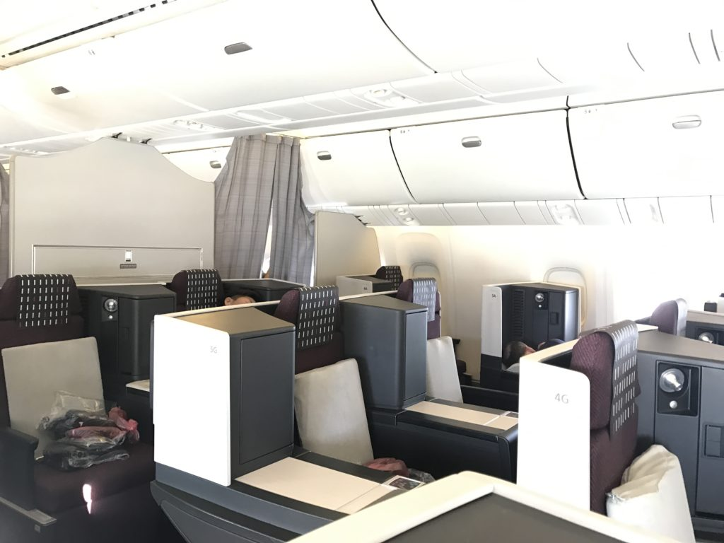 JAL Business 767 Cabin 1