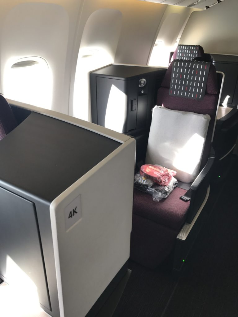 JAL Business Class 767 Window Seat
