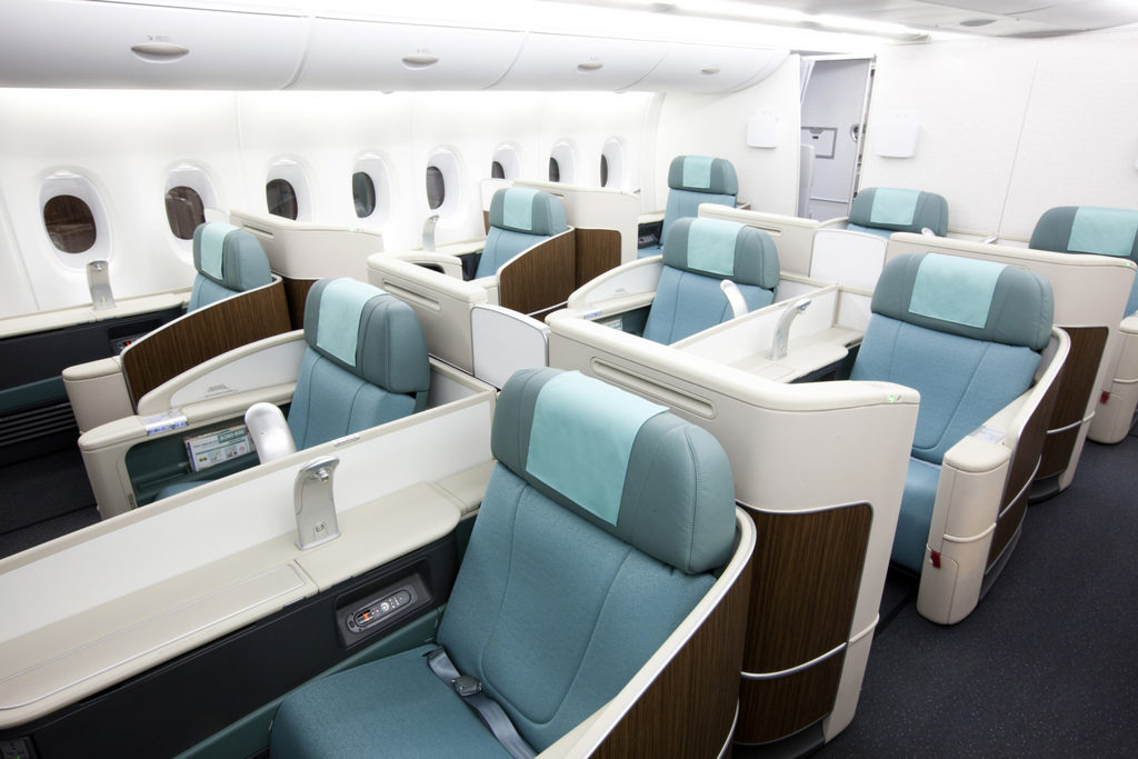 Korean Air First Class Cabin