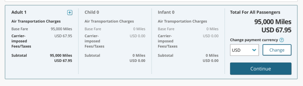 Korean Air First Class Miles and Fares
