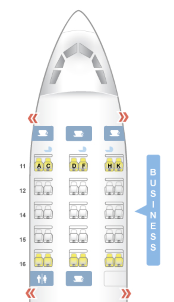 SQ A330 Seat Map