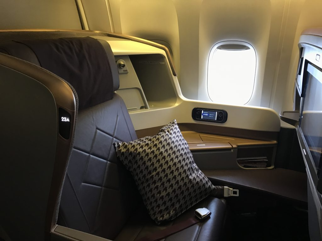 SQ Business Class Seat