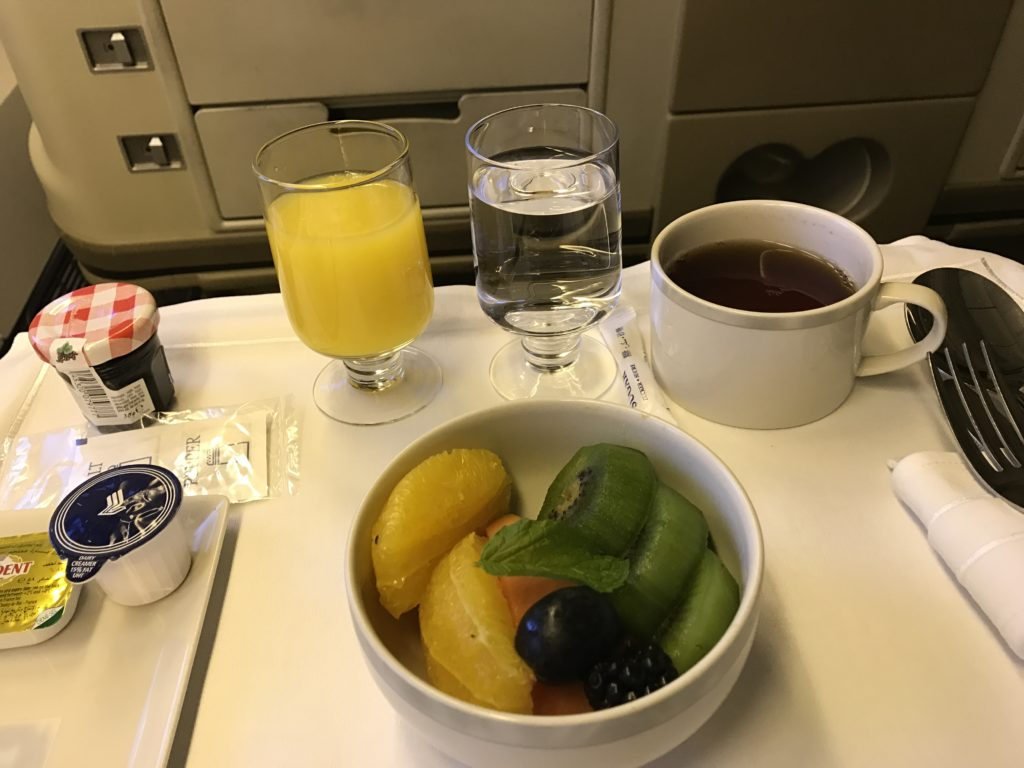 SQ On Board Breakfast