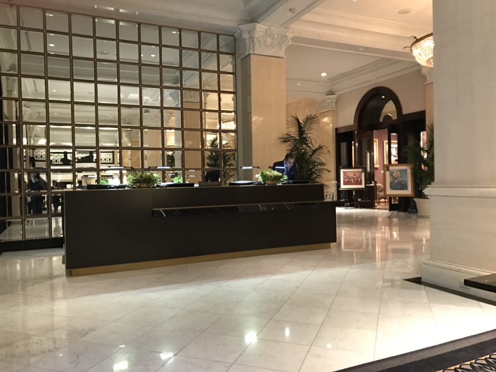 The US Grant Hotel Reception