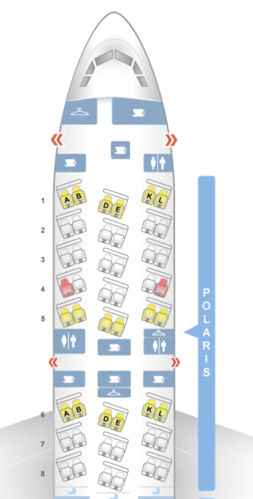 United Polaris 787 Seat Map (Ref: seatguru)