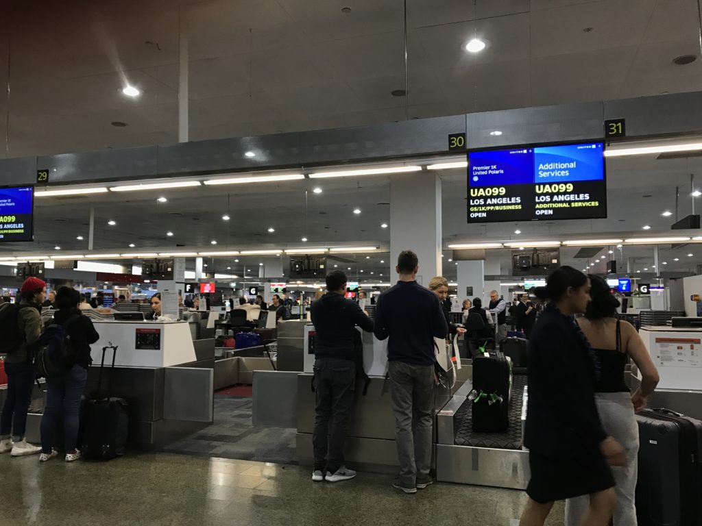 Check-in at Melbourne Airport